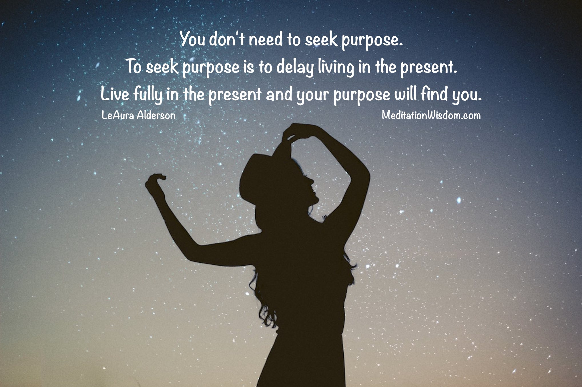 Purpose quote, living with purpose